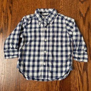 LIKE NEW Gap Button-Down 100% Cotton Gingham Shirt